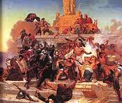 The Spaniards defeating the Aztecs